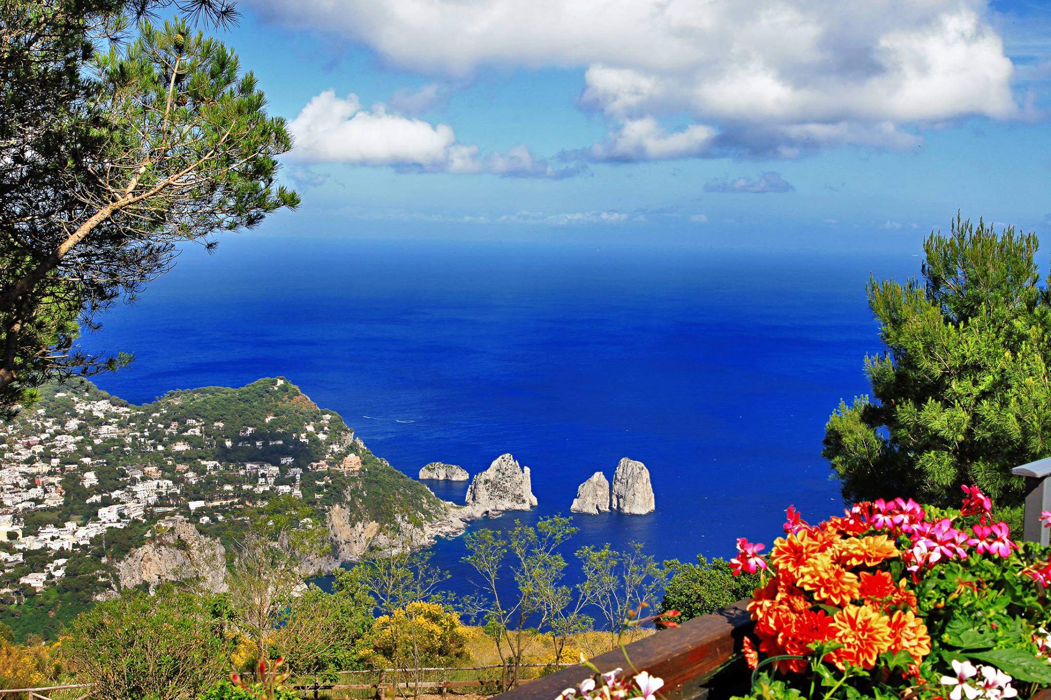 Views from the August Gardens of Capri