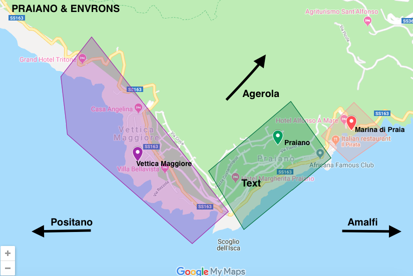 Click the image above to explore the Sauced & Found map of Praiano