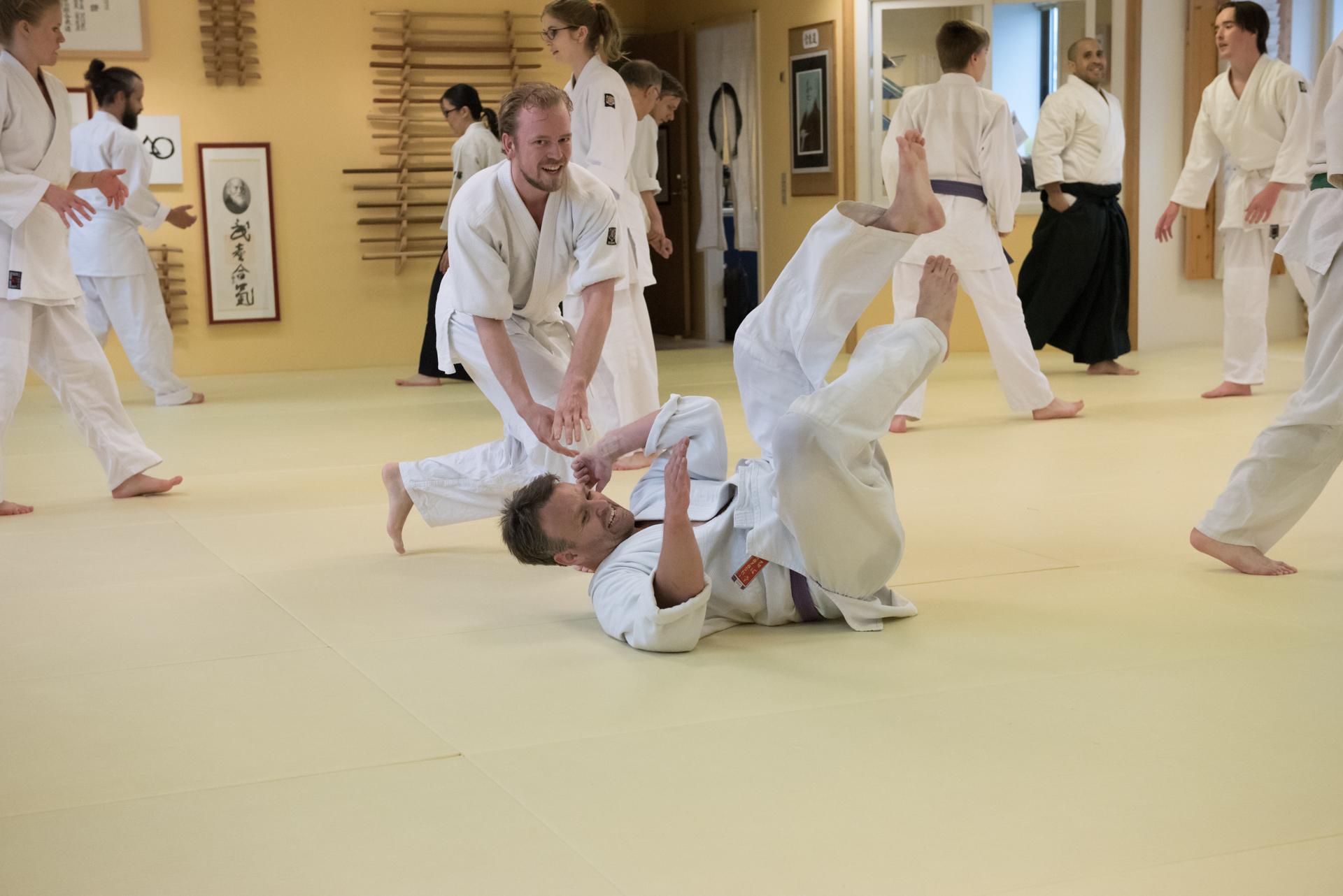 Aikido hele ugen - Der er rig mulighed for at træne aikido i Reishin Dojo.