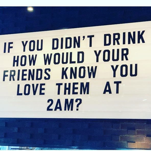 Show your friends some love tonight 🧡🖤 We've got the drink portion covered 🍸🍹🍻🍷🍾 #friday