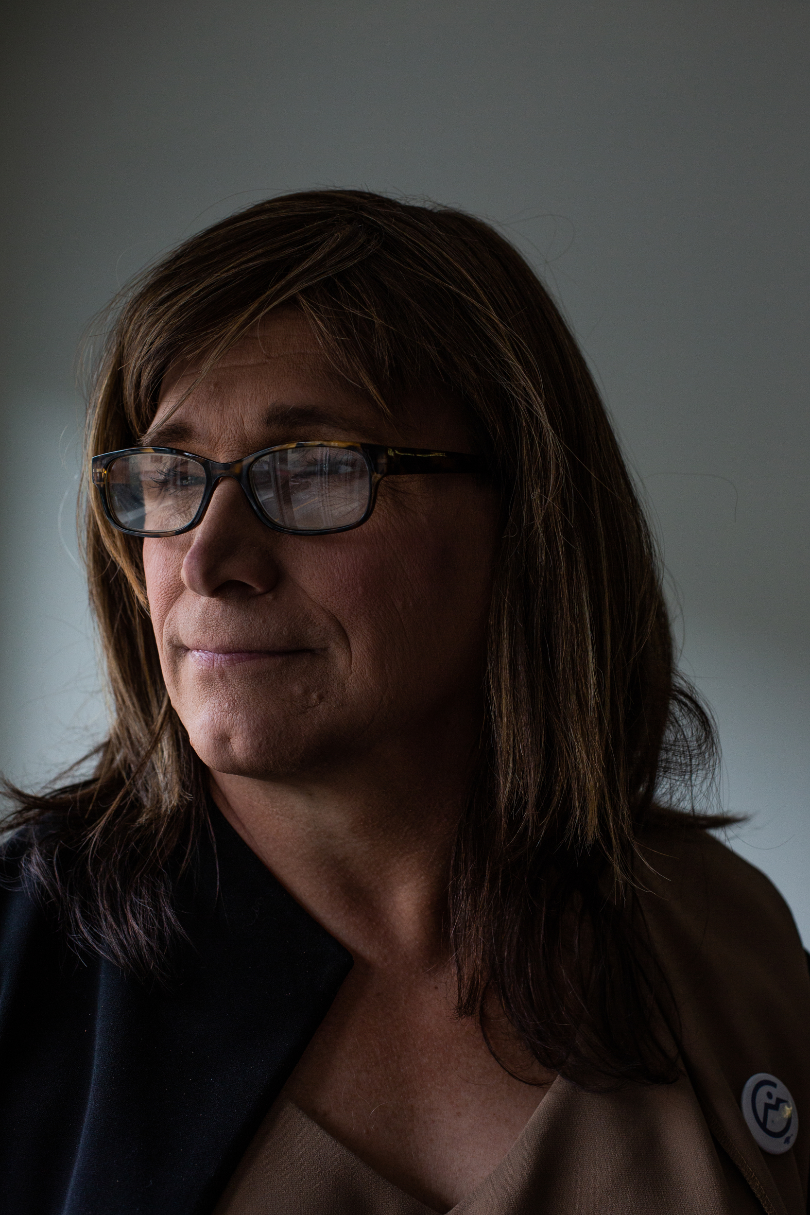 Christine Hallquist, a Democrat from Vermont, became the first transgender candidate to be nominated for a governorship by a major party after beating three candidates in Vermont's primary. She and her campaign team worked throughout the northern part of the state on Monday, September 24, 2018.JOHN TULLY For The New York Times