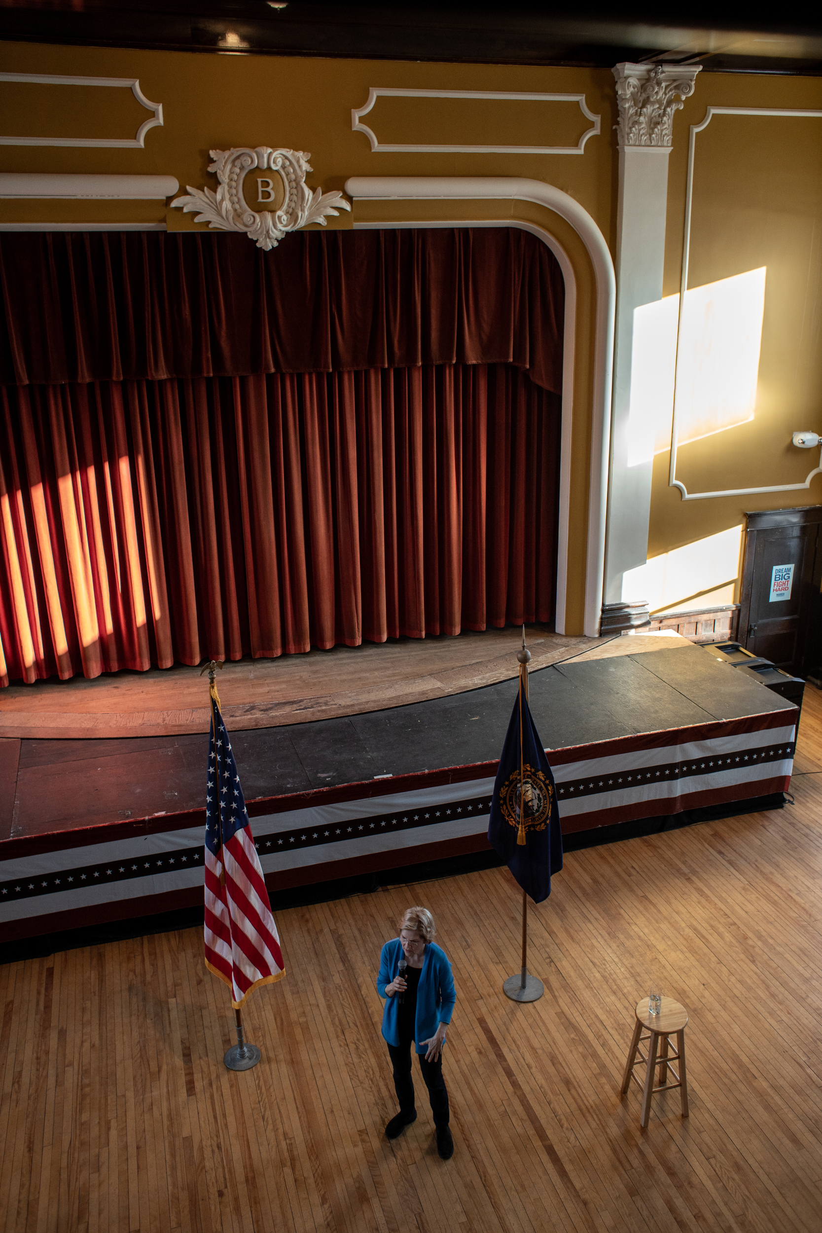 Senator Elizabeth Warren of Massachusetts held a campaign stop in Berlin, New Hampshire on Saturday, March 23, 2019. Warren campaigned throughout northern New Hampshire as part of her bid for president. Before heading to Berlin, Warren hosted a panel discussion called 'Community Conversations with Elizabeth Warren on the Opioid Crisis' at the Littleton High School in Littleton, New Hampshire. According to the National Institute on Drug Abuse, New Hampshire is second in the country for highest opioid-related overdose deaths. The U.S. Department of Health and Human Services recently announced New Hampshire will be allocated an additional $12 million to combat the crisis.