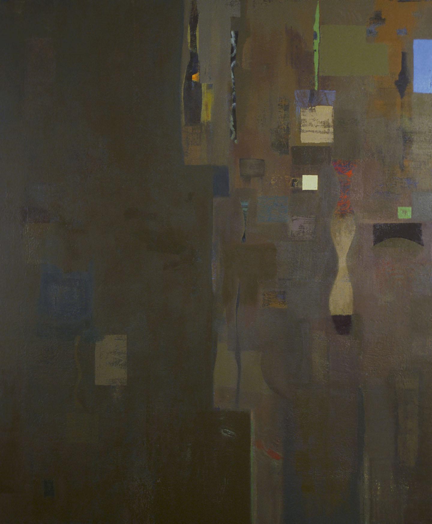 "Sacred Space,   48""x 40"", oil on wood, 1999"