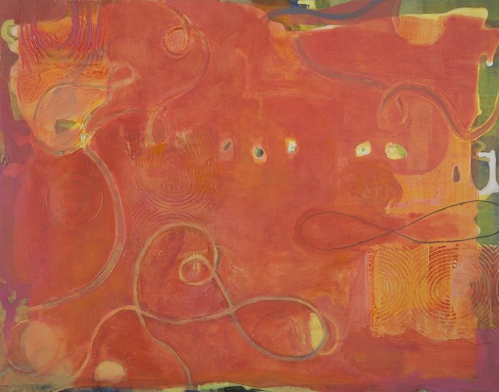 "Sunset,   22""x 28"", oil, acrylic on gesso board, 2014"