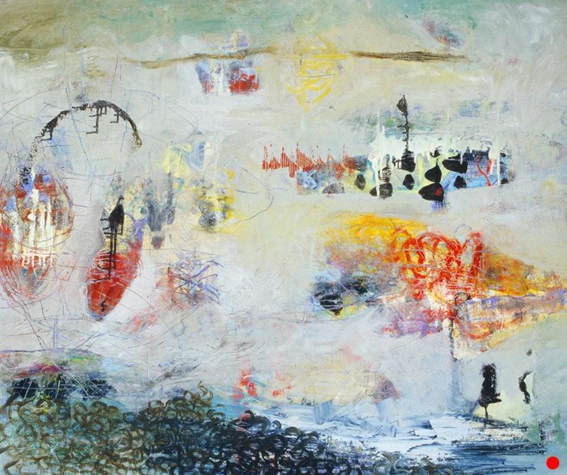 """White Dream,   40""""x 48"""", oil, oil stick on canvas, 2005  SOLD"""