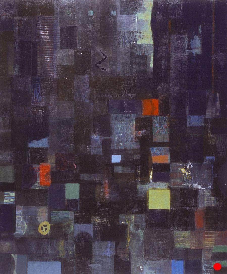 "Black Dimension ,  48""x 40"", oil on wood, 1999  SOLD"