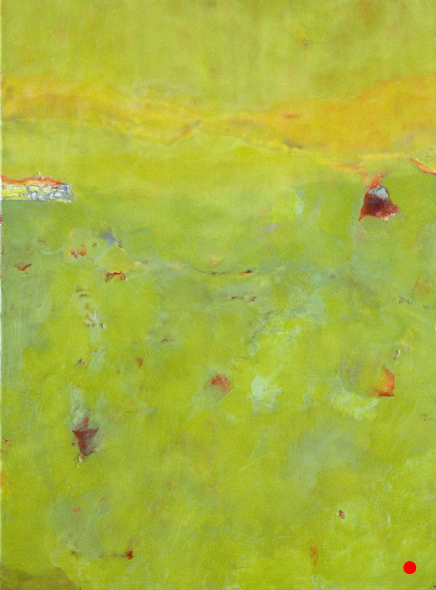 """Tranquil,   30"""" x 25"""", encaustic, oil on wood, 2005  SOLD"""