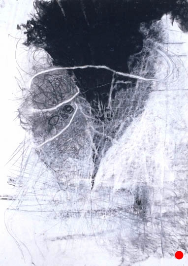 """Shelter,  40.5""""x 29.5"""", charcoal, graphite on paper, 2005  SOLD"""