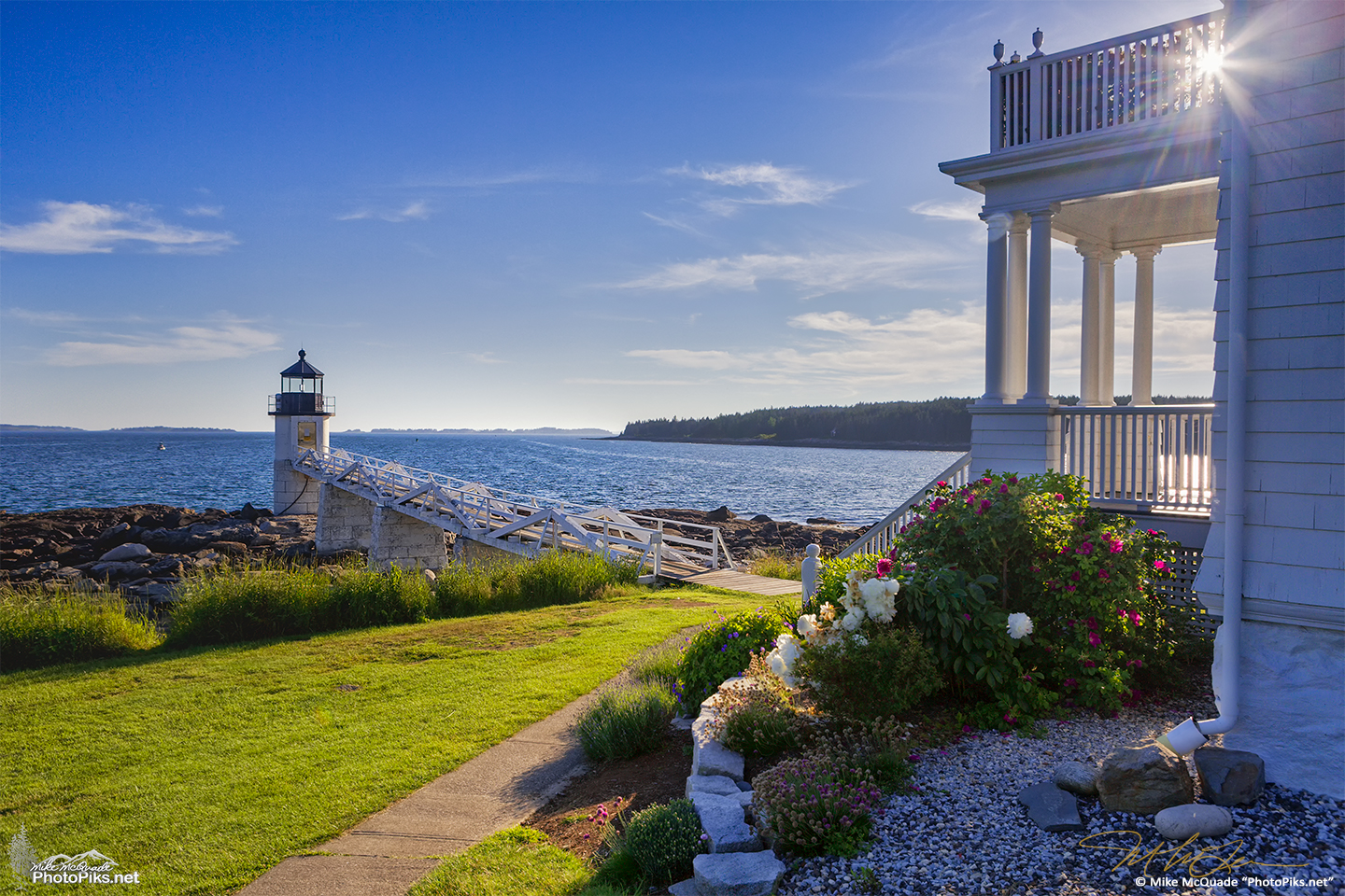Marshall Point Light Station in Port Clyde, Maine