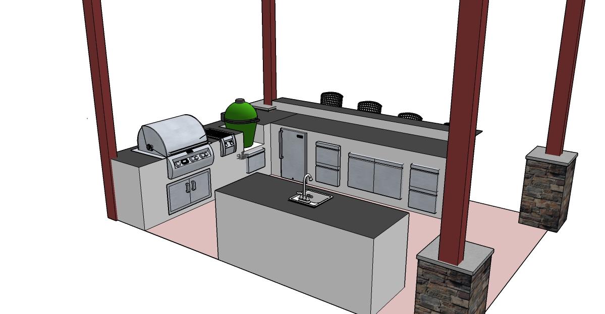 Firemagic big green egg outdoor kitchen