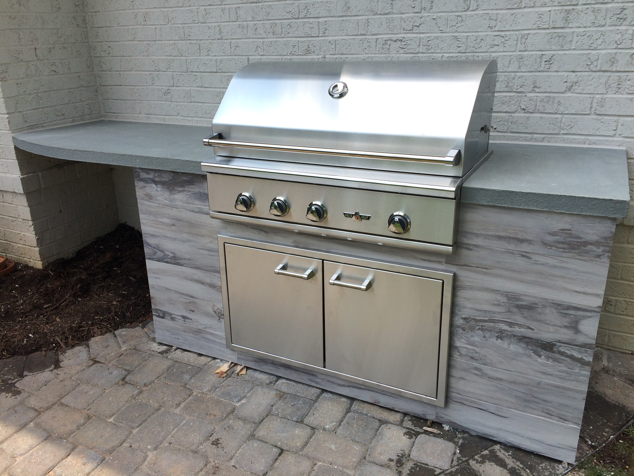 delta heat outdoor grill island