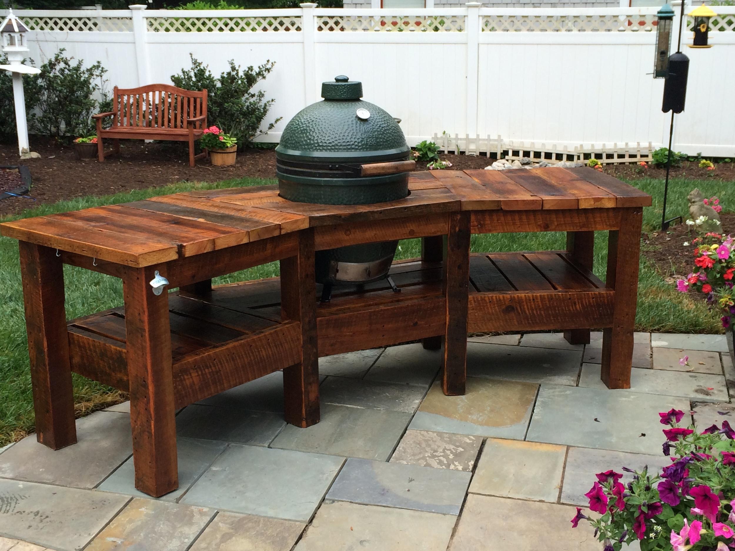 barn wood egg table