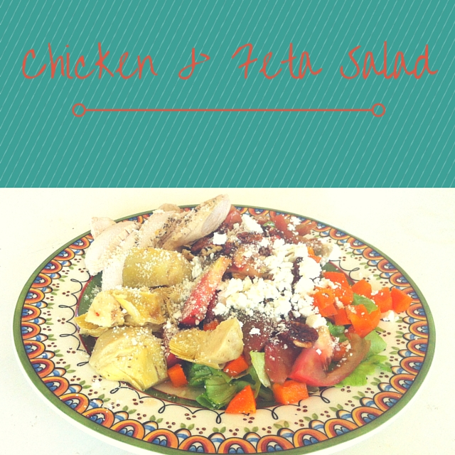 Chicken-feta-salad