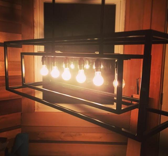 Linear chandelier for Eugene OR
