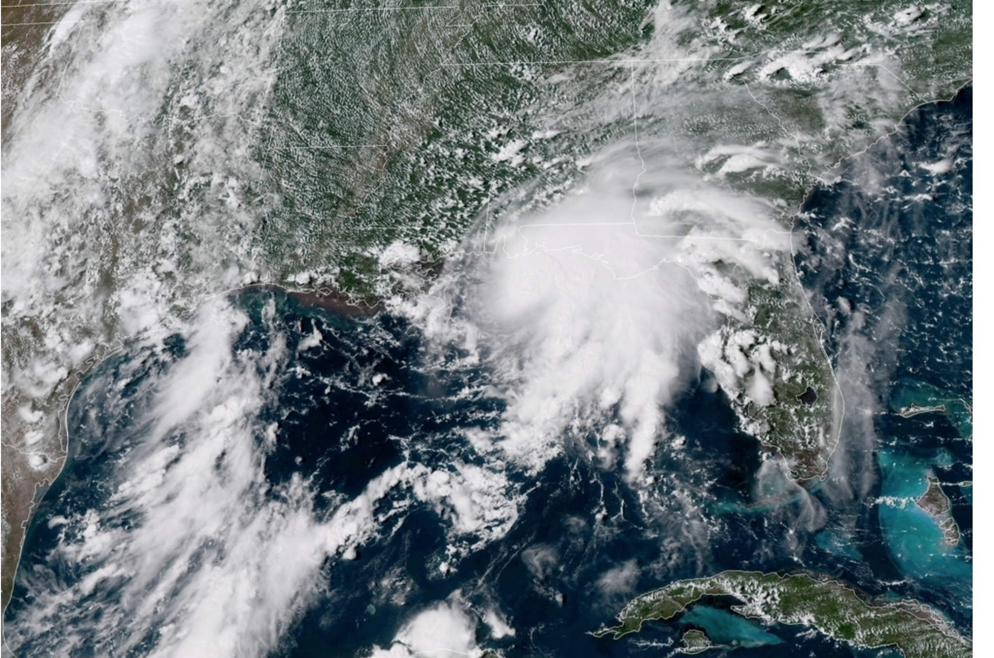 Goes-16 Color Image of Tropical Storm Gordon