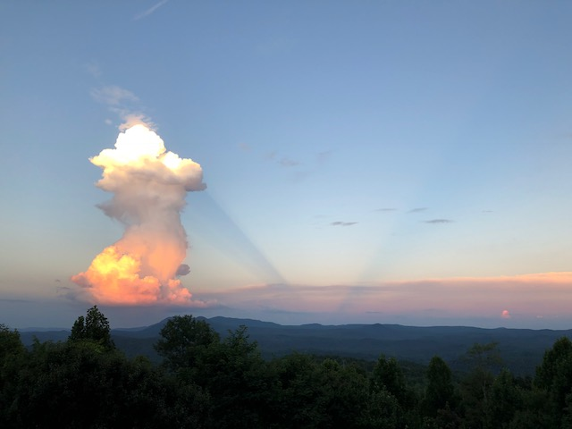 Photo taken from Brevard, NC and provided by ColinKirkman
