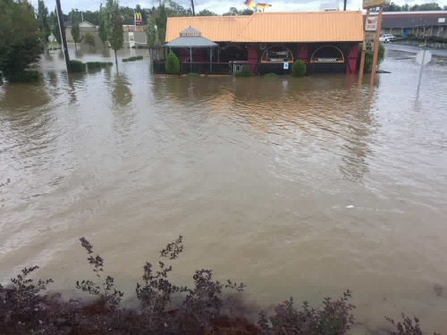 Flooding in Downtown Hendersonville, NC sent in by Jack Hough