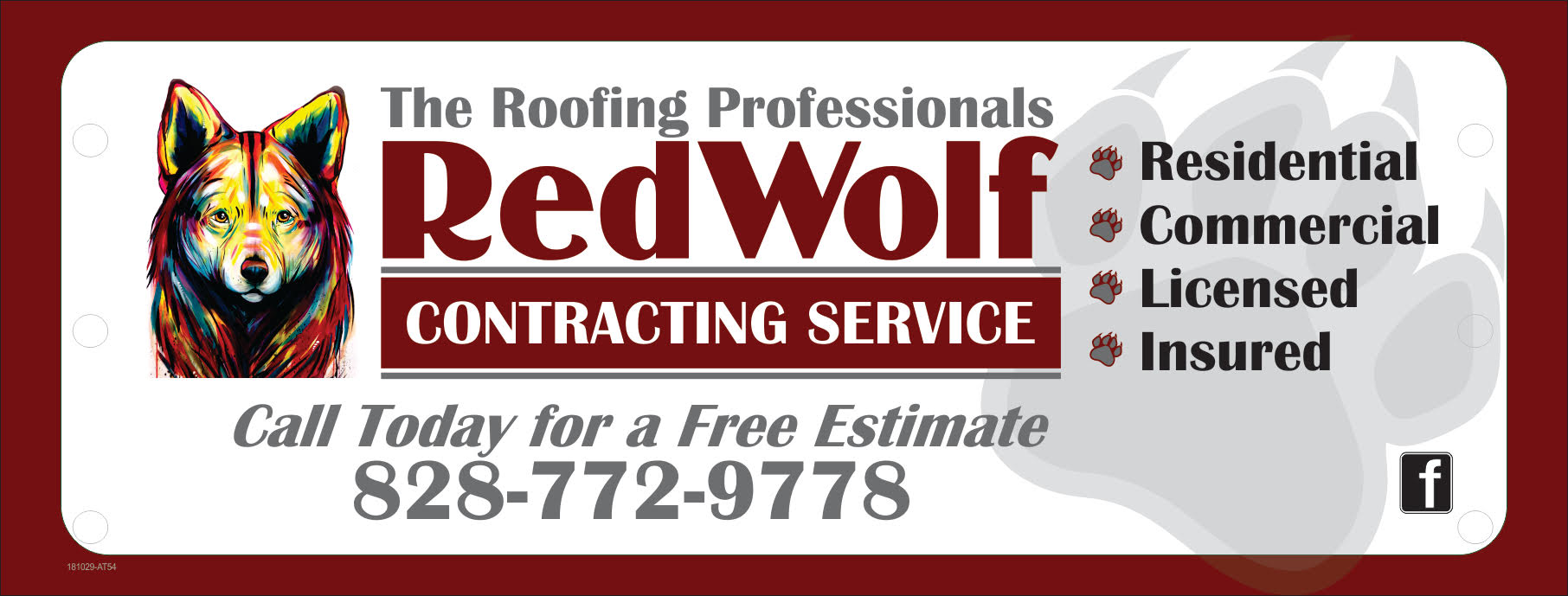 Need your roof repaired or replaced?  Call Matt with RedWolf Contracting Service to get your free estimate and evaluation today!  (828)772-9778 or visit their website  nc-roofers.com