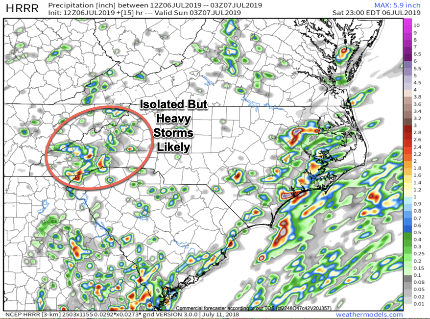 HRRR provided by  weathermodels.com