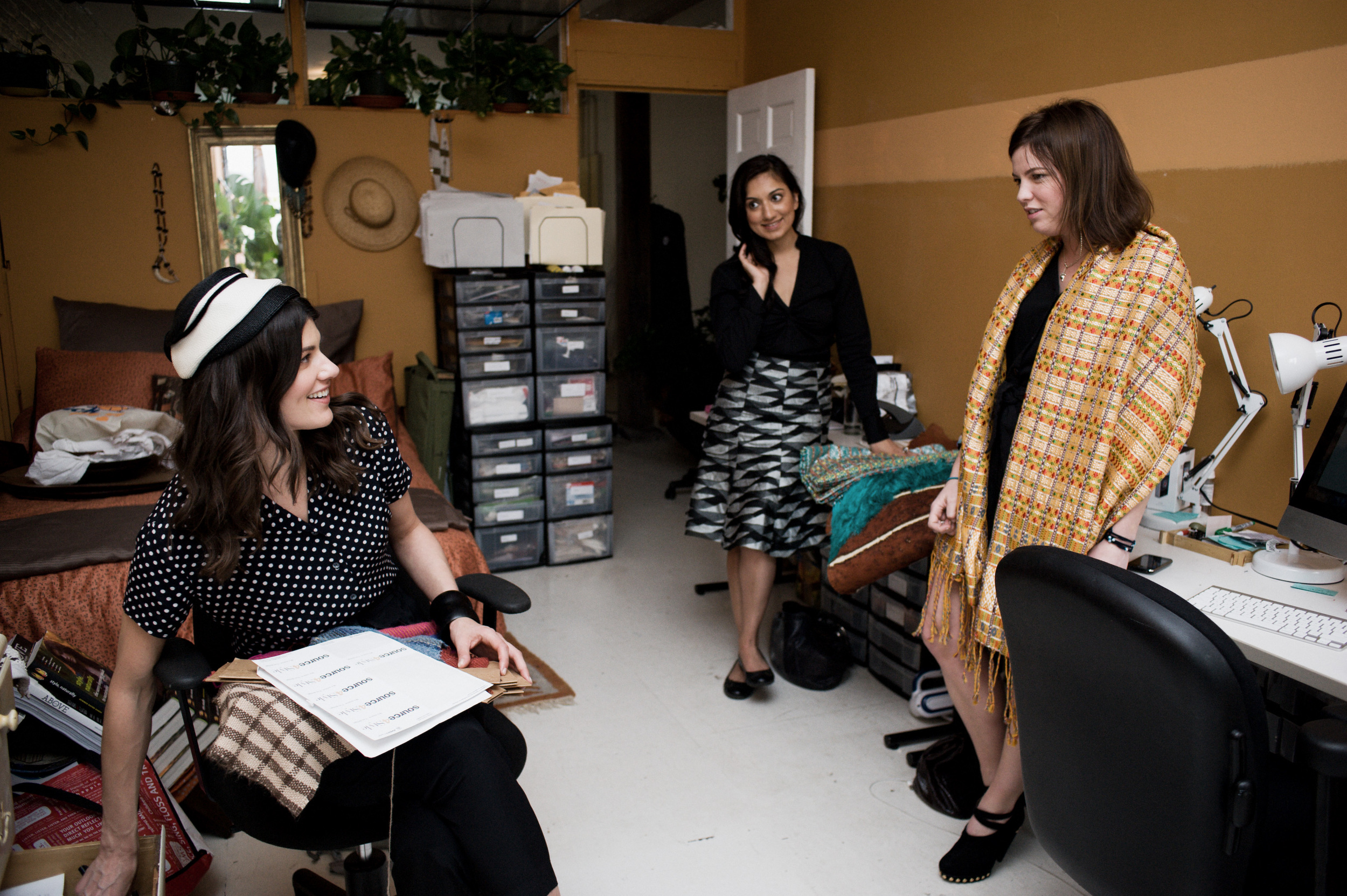 Benita, Elizabeth and I were the core team at Source4Style. Nothing would have been made possible without the help of these two ladies! Photography by: Shawn Brackbill for Source4Style.