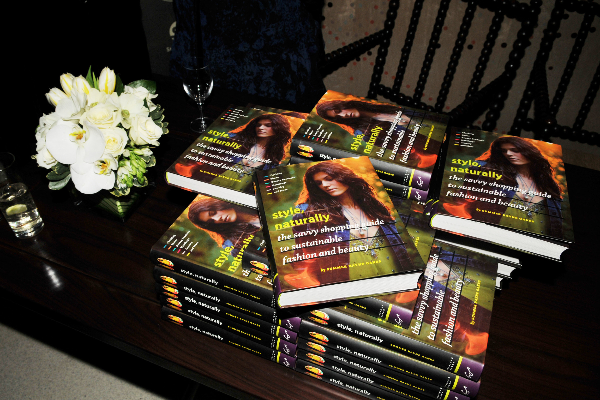 Books hot off the press at the launch party in NYC.