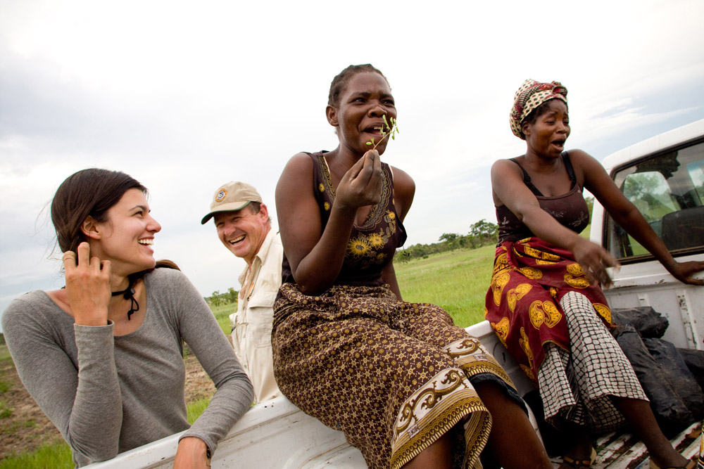 People who laugh together, stick together. At the Mezimbite Forest Centre, Sofala Province, Mozambique. Photography by: Esther Havens