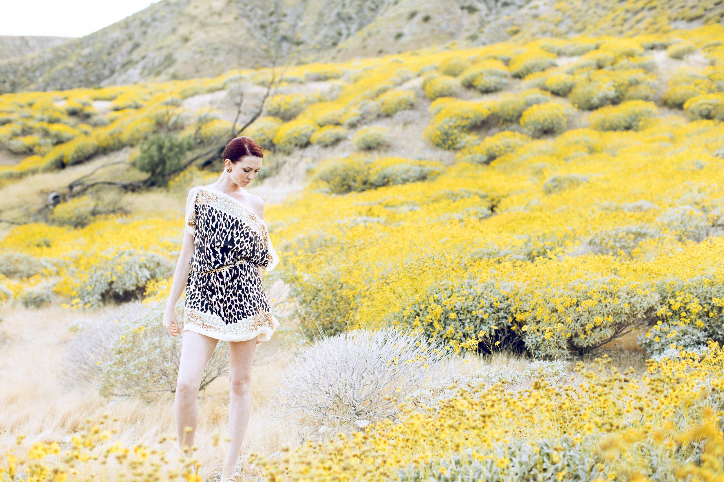 "Amanda Reversible Silk Scarf Tunic in ""Zebra Floral"" and ""Leopard Chain"""