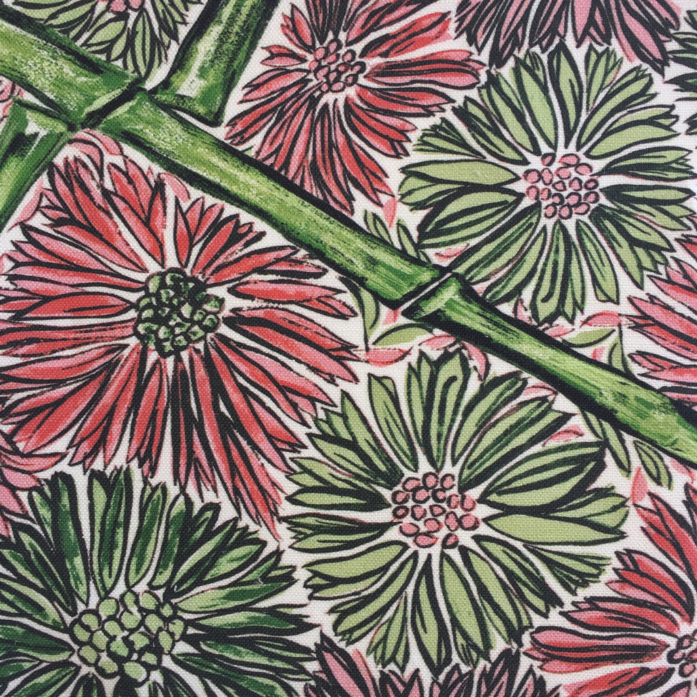 Bamboo Floral in GREEN  CHINOISERIE COLLECTION