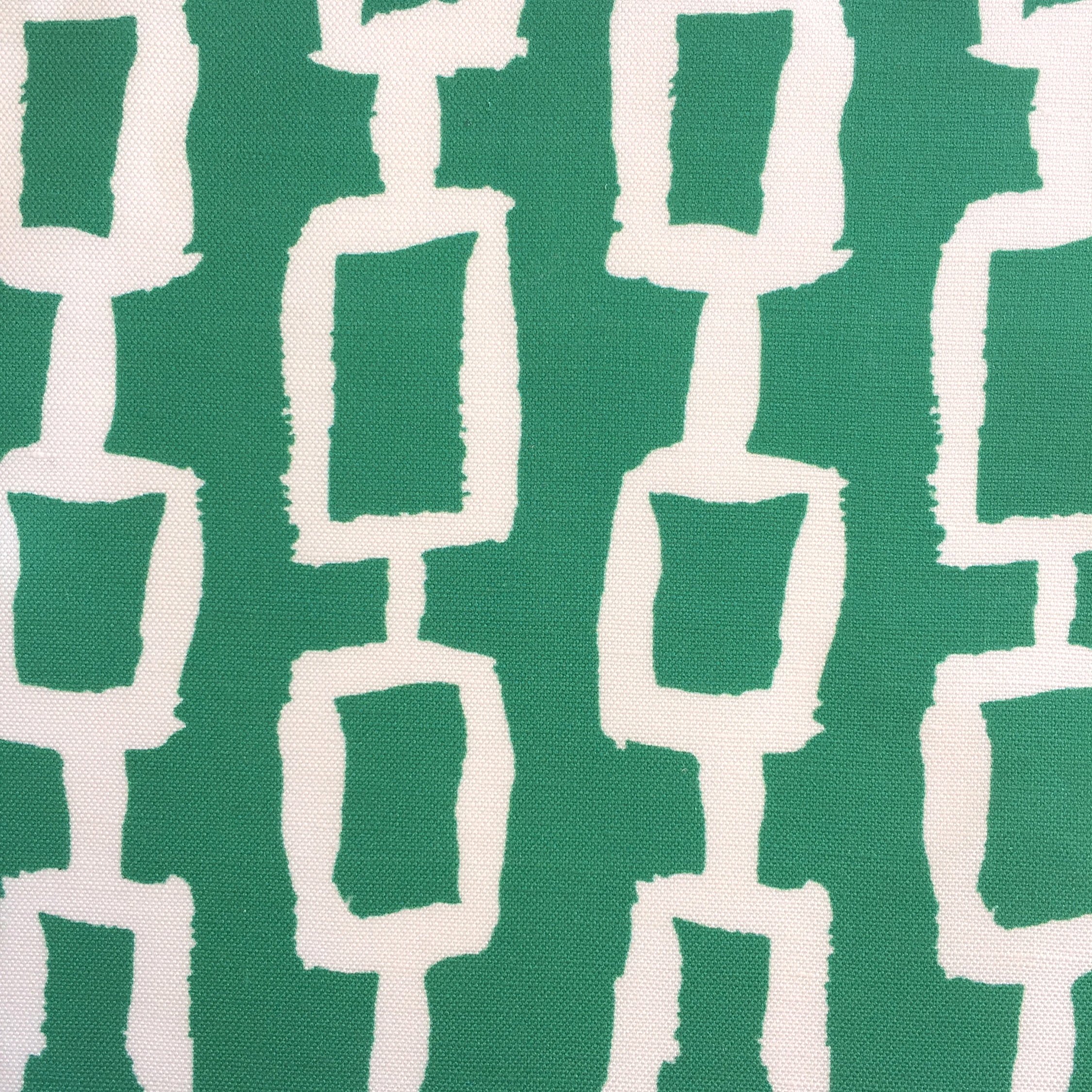 Chain Print in EMERALD/WHITE  CHINOISERIE COLLECTION