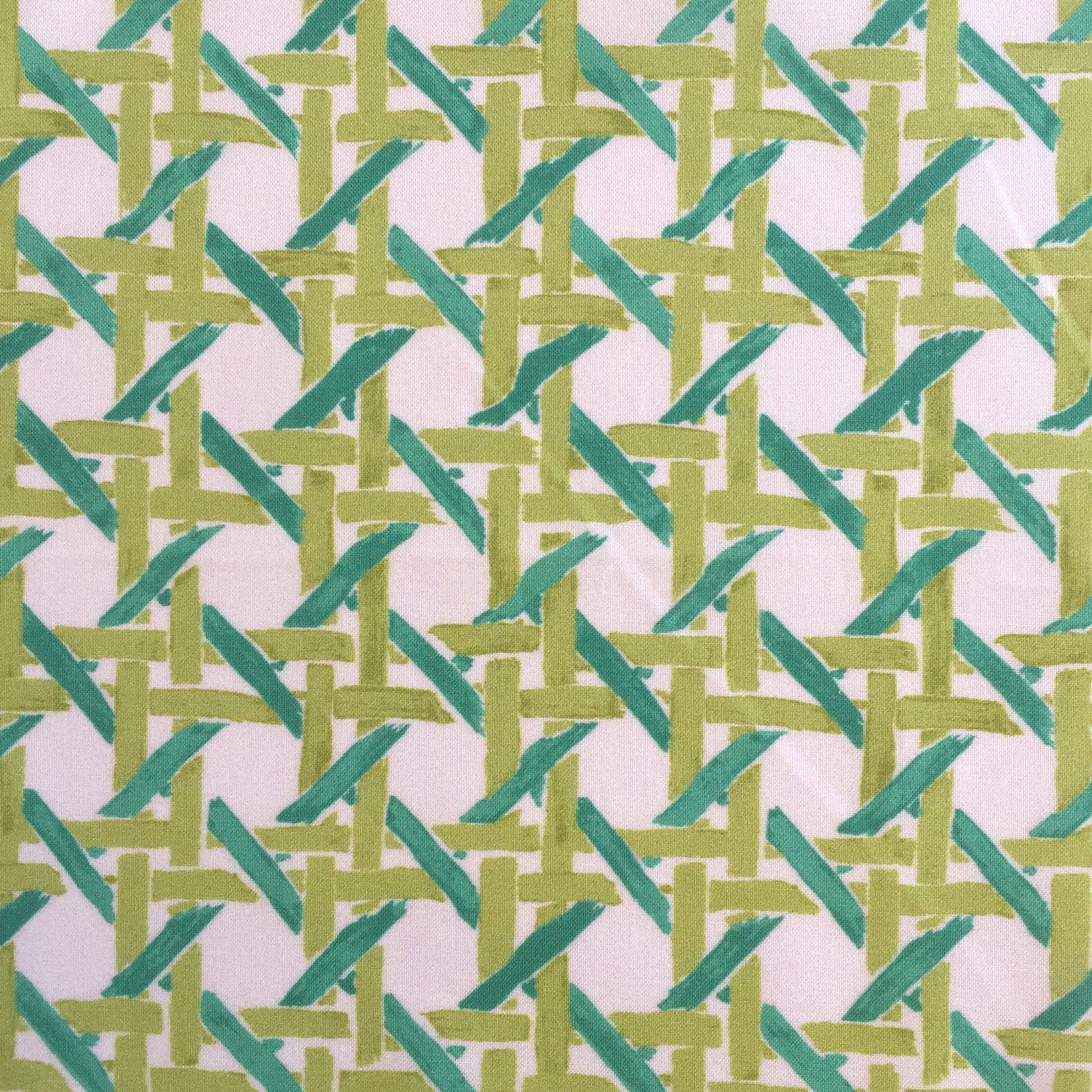 Cane Print in CREAM/JADE  PALM SPRINGS COLLECTION