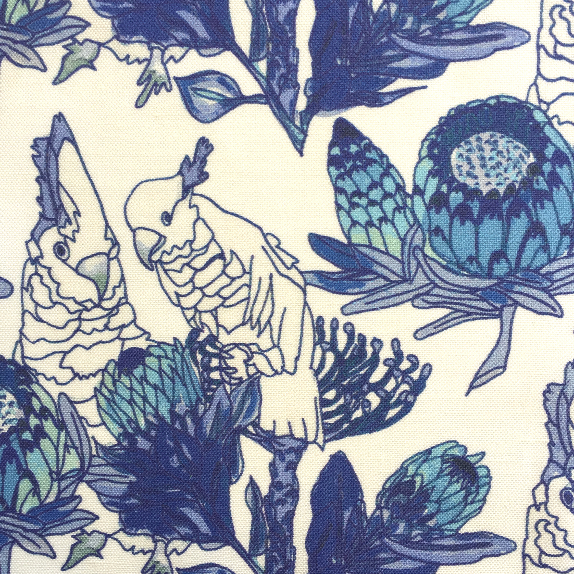 Parrots and Proteas in MING VASE  PALM SPRINGS COLLECTION