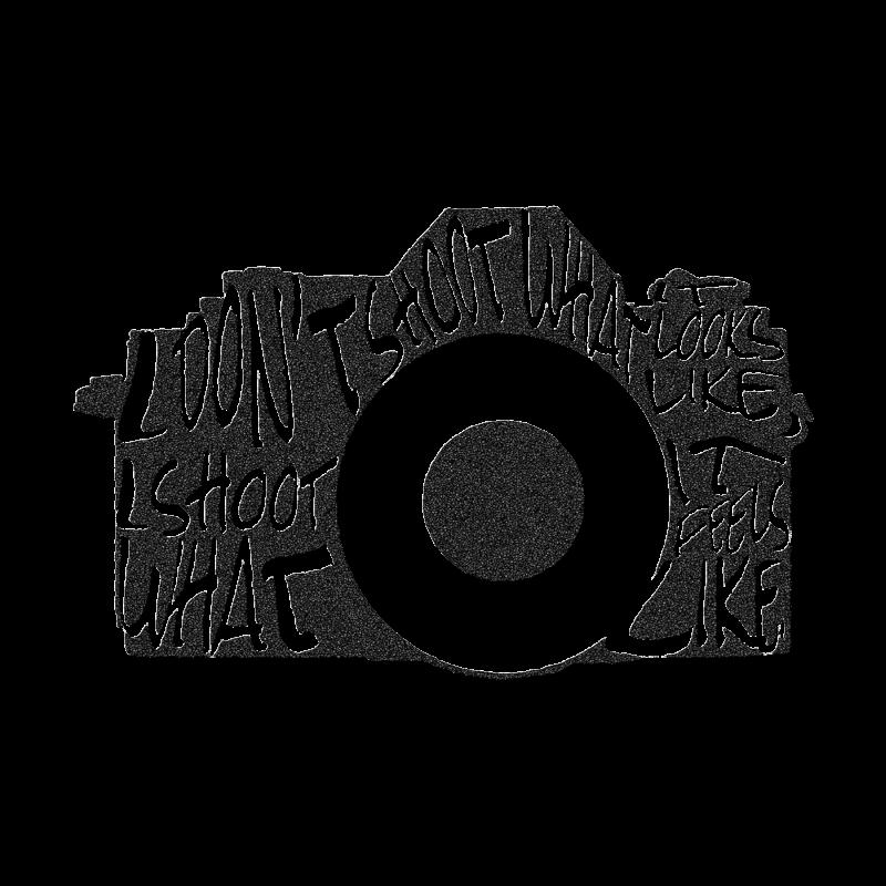 My digital camera typography illustration