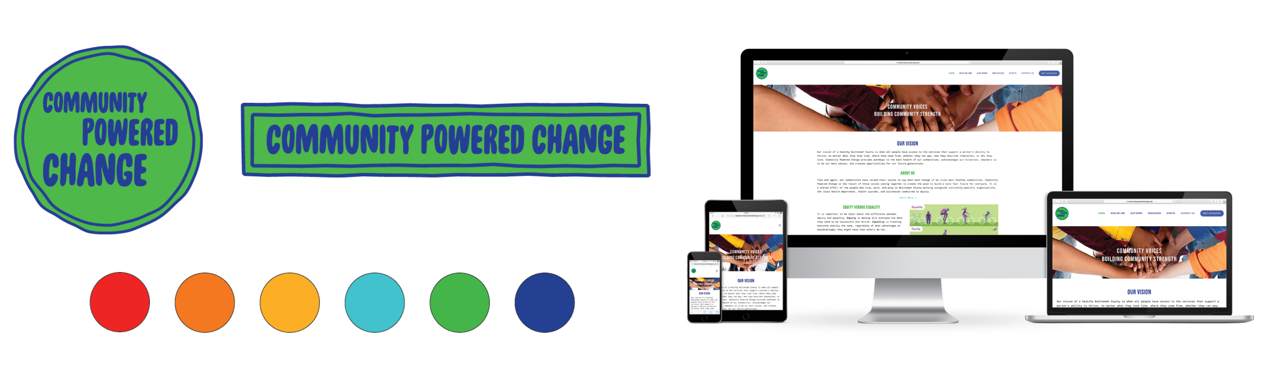 Community Powered Change branding + website