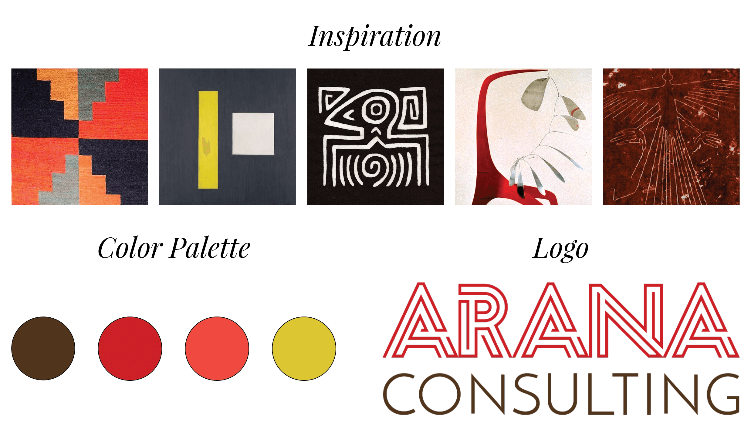 Arana Consulting - inspiration and color palette