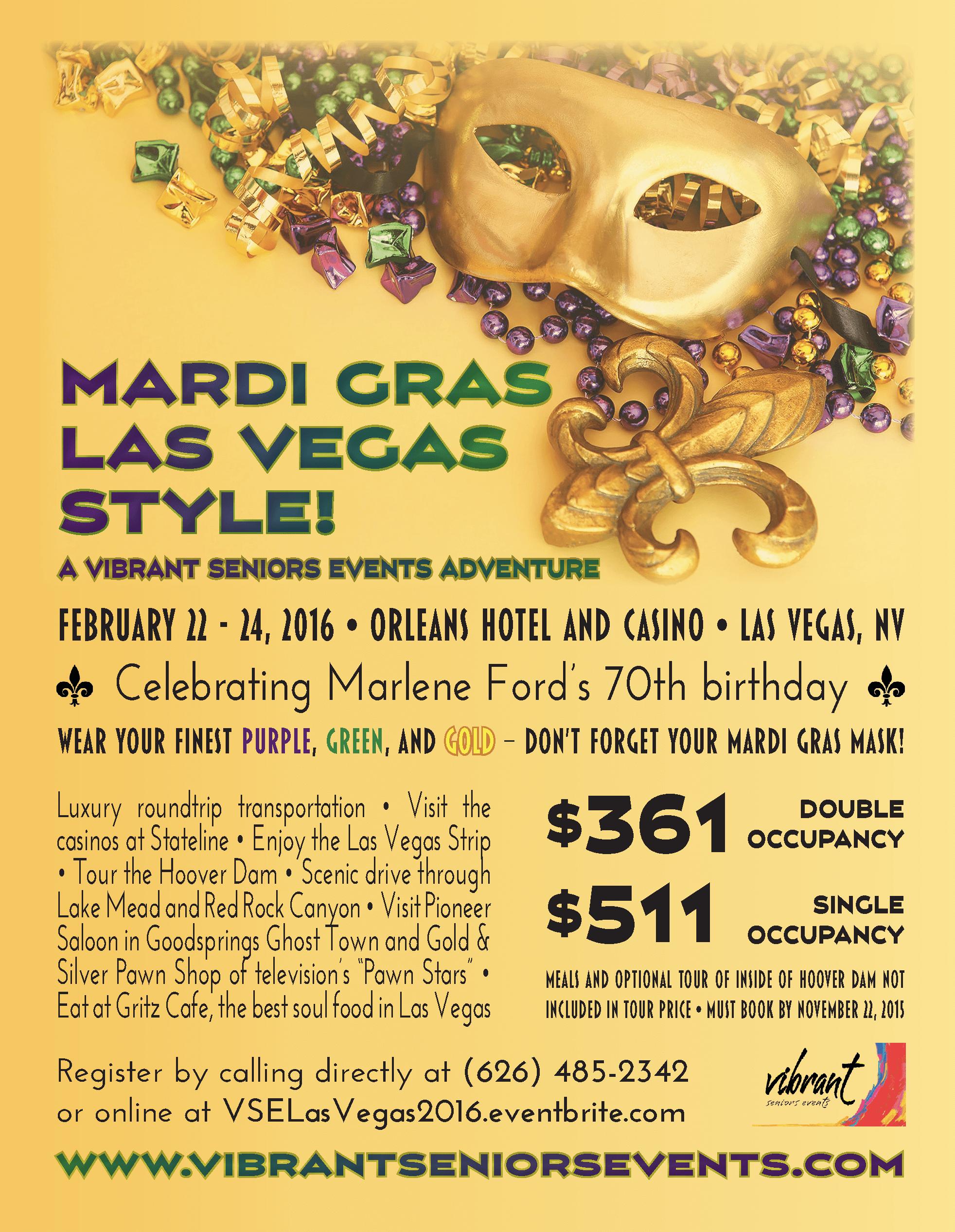 Vibrant Seniors Events Las Vegas flyer
