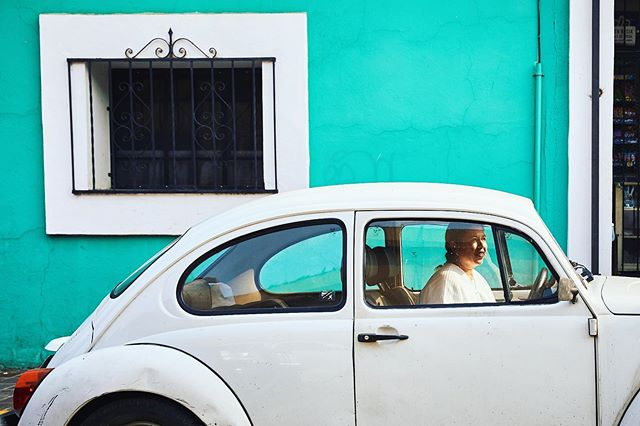 Fior showing up looking so scholarly in her white robes and white VW. She was a total pleasure and an amazing wealth of knowledge on Oaxaca and it's history. She guided us around town while painting a detailed picture of what life used to be like in the city.