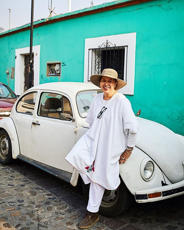 Incredibly knowledgeable and very sweet Flor with her adorable VW bug