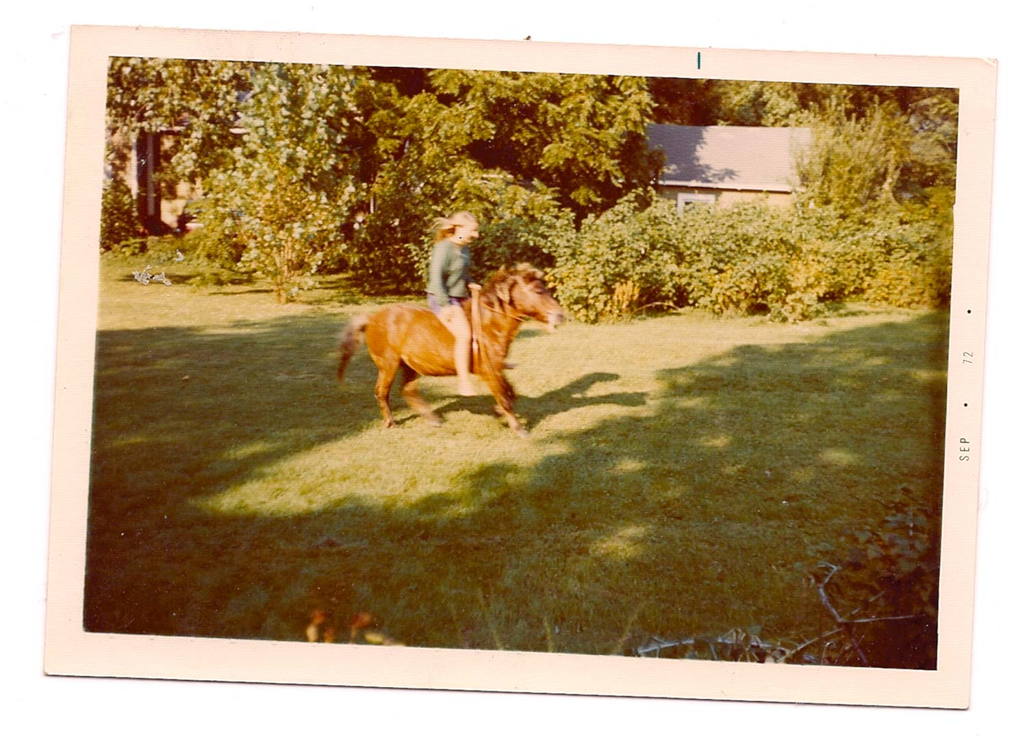 CJA with Jimmy the pony, a year before his death.