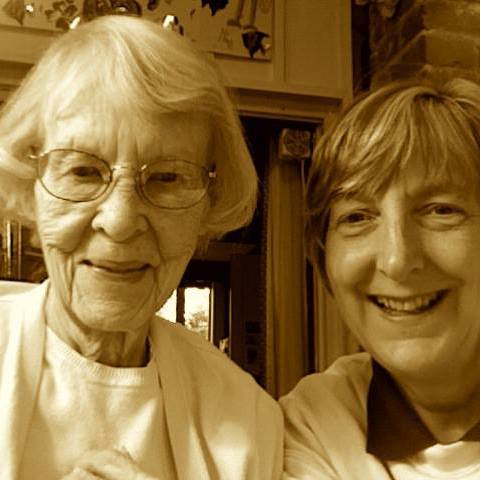 My mother and I. My sisters and I equitably shared caregiving of my mother, after she developed Alzheimer's, and with my father, we were all present with her when she died. I learned so much from the years of caregiving!