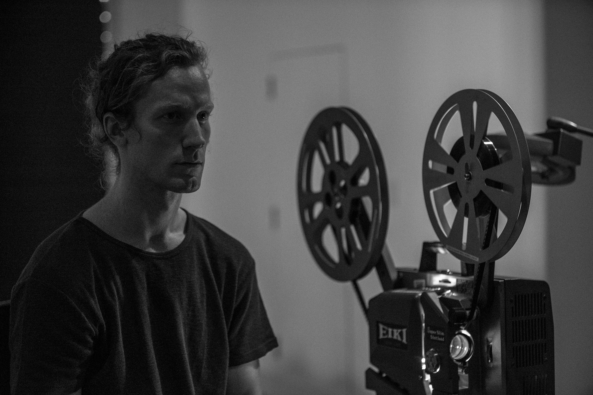 Justin Zielke as the projectionist during CHET