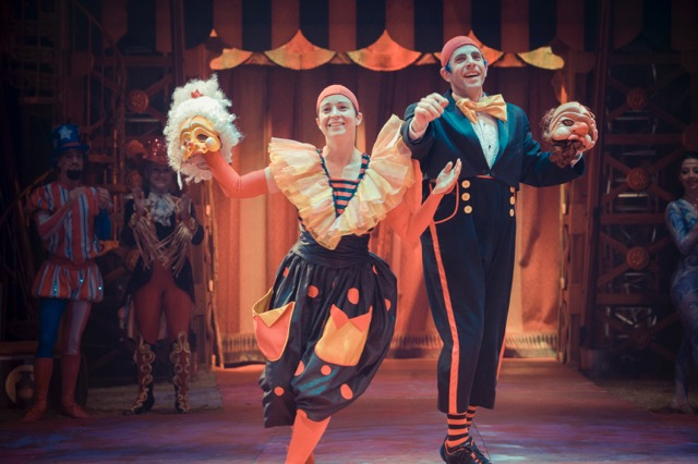 Seth Bloom and Christina Gelsone in The Big Apple Circus. Photo Credit: Florence Montmare