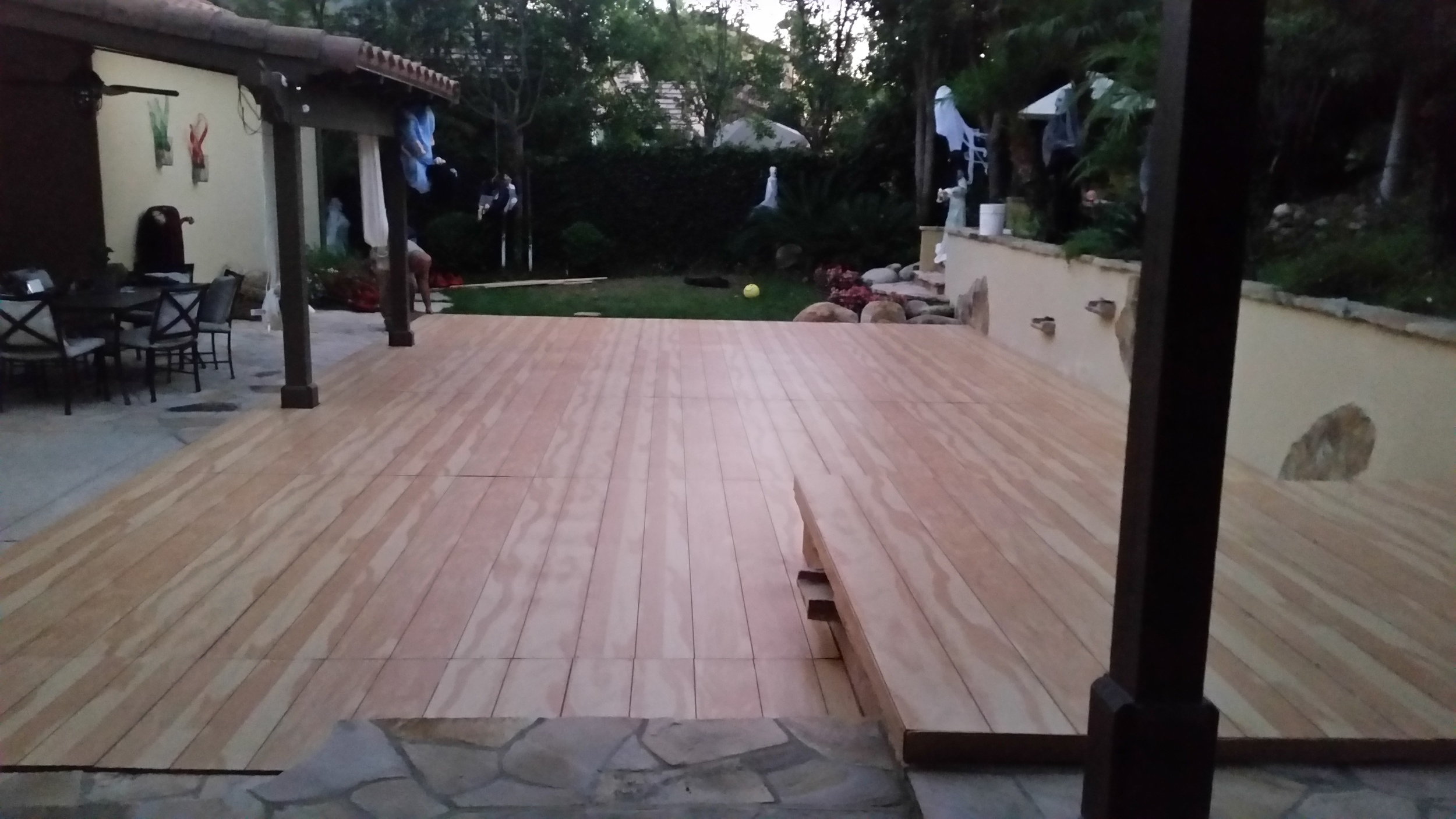 pool cover flooring rentals