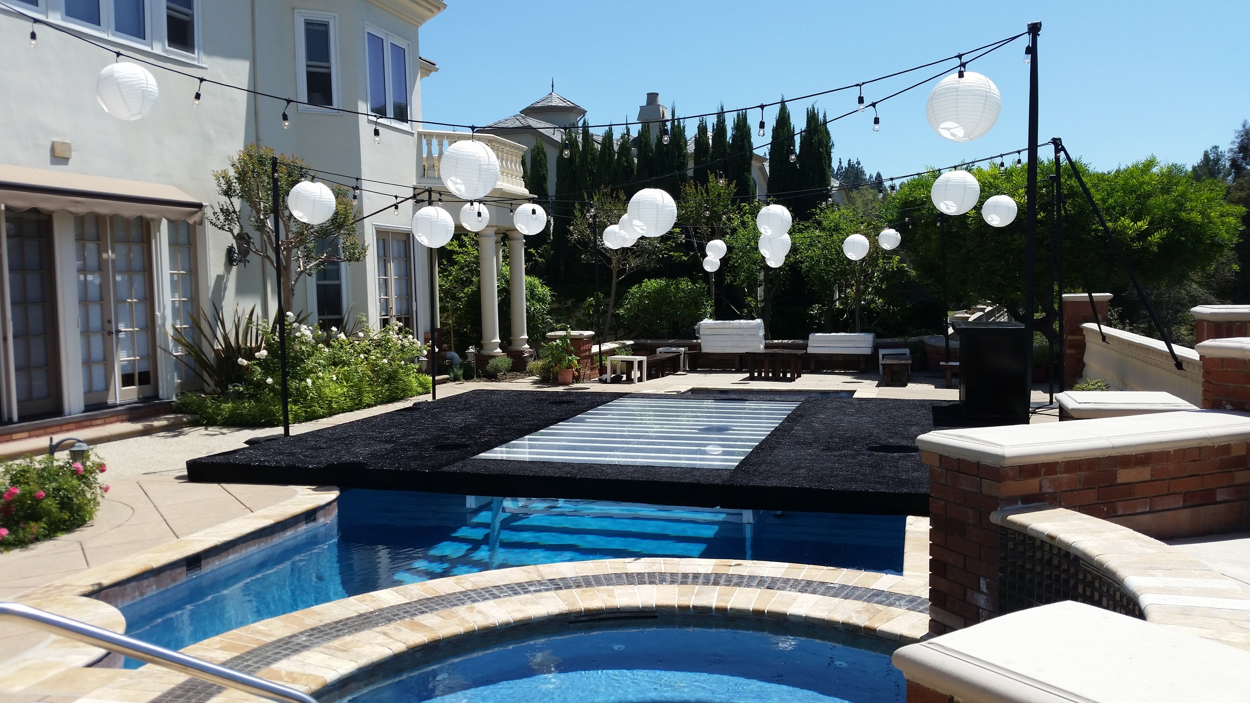 plexiglass pool cover rental