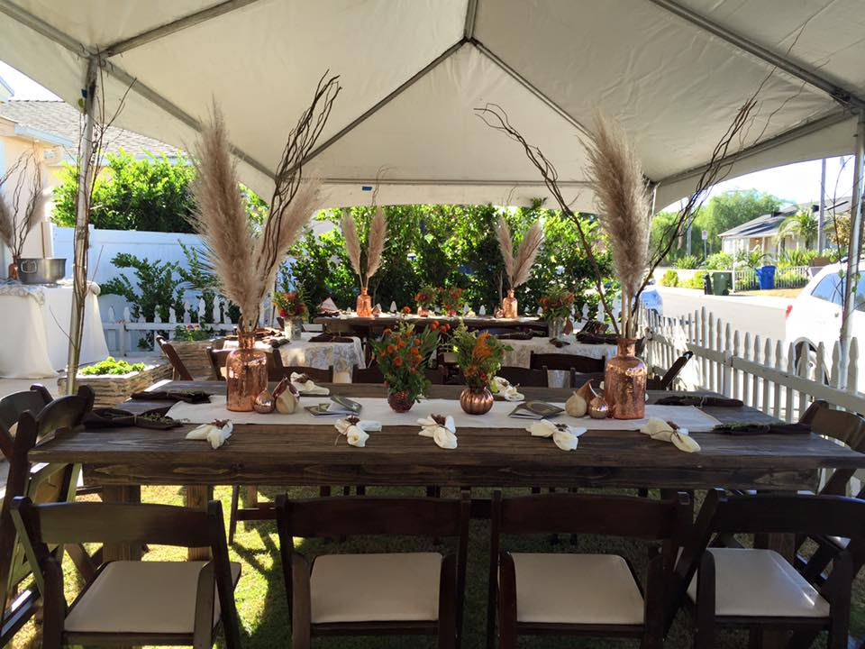 rustic table rentals