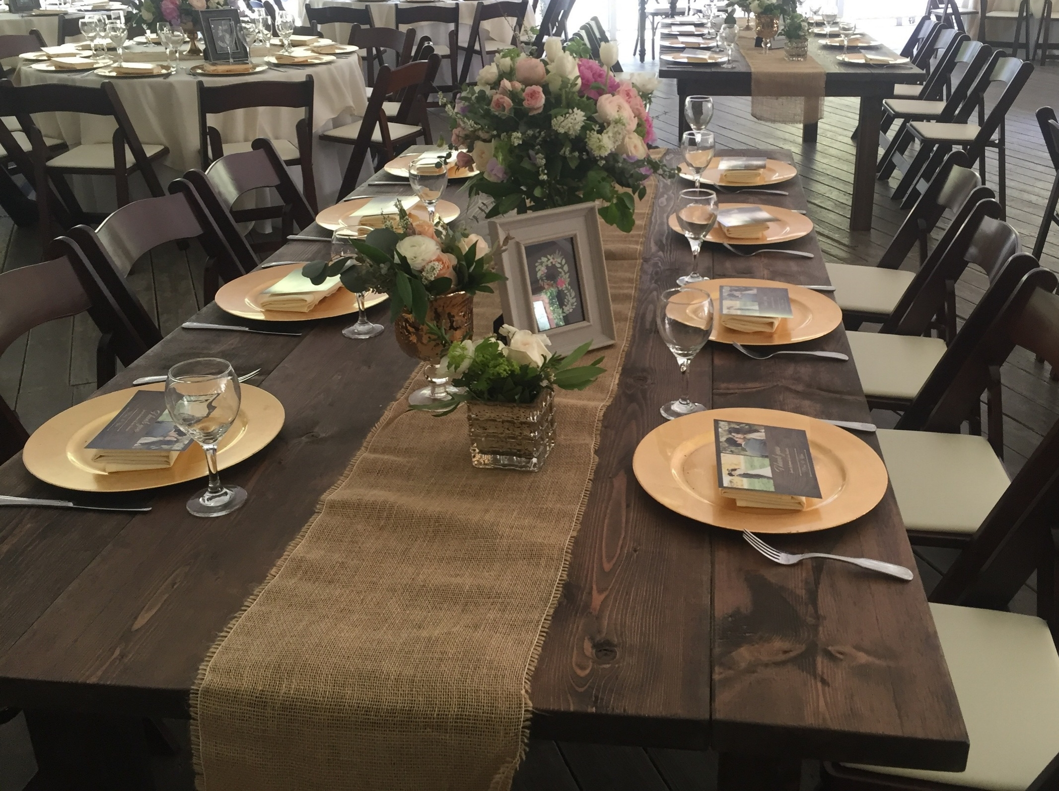 rustic farm table rental