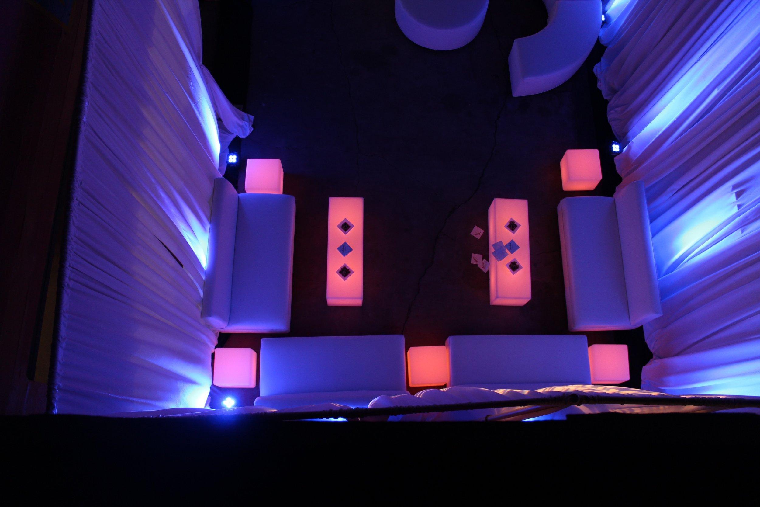 LED furniture rentals los angeles