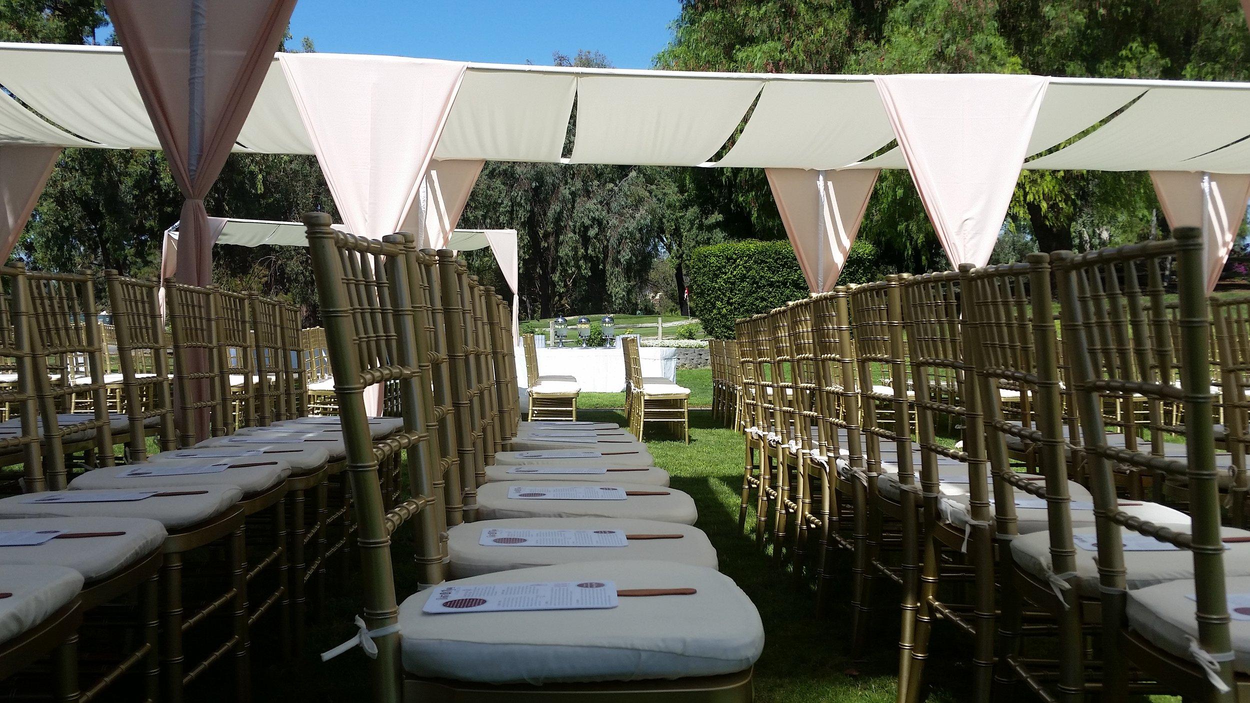 fabric shade tent rentals