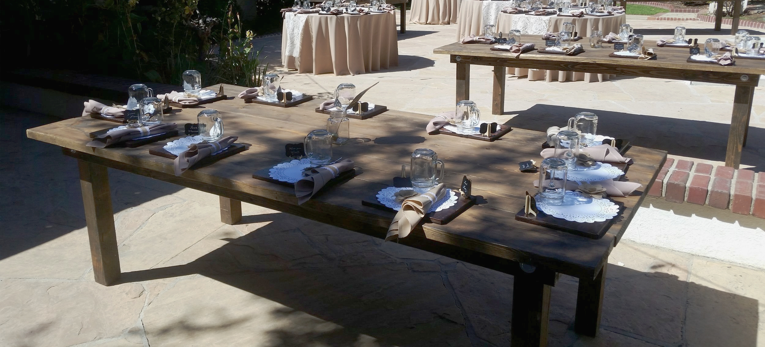 rustic wedding rentals