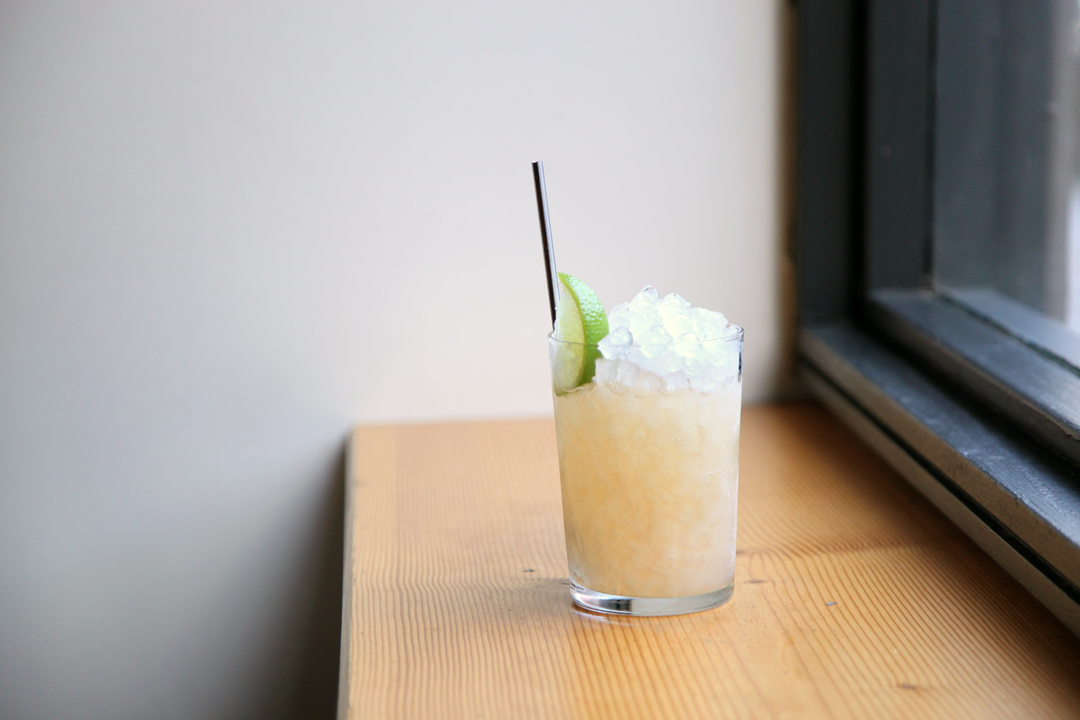 Quince, Jamaican rum, fresh lime and lots of ice