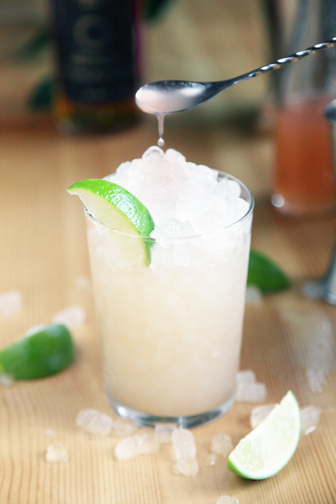 Voila! A wonderfully fresh and delicious drink. If you want it a tad sweeter feel free to drizzle a little extra quince syrup on the top. Cheers!